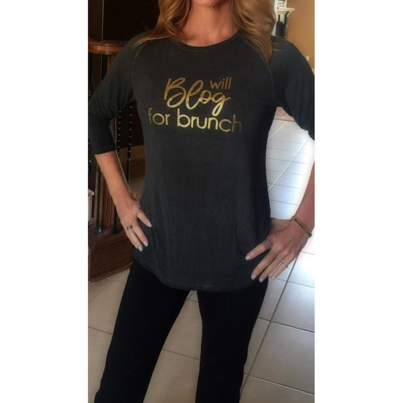 Will Blog For Brunch Tee - Studio To Street Boutique