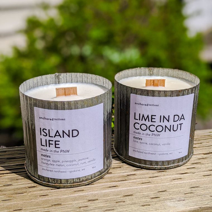 Lime in da Coconut - Rustic Vintage Wood Wick Candle