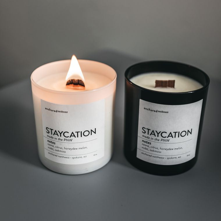 Staycation - Black Tumbler w/ cover