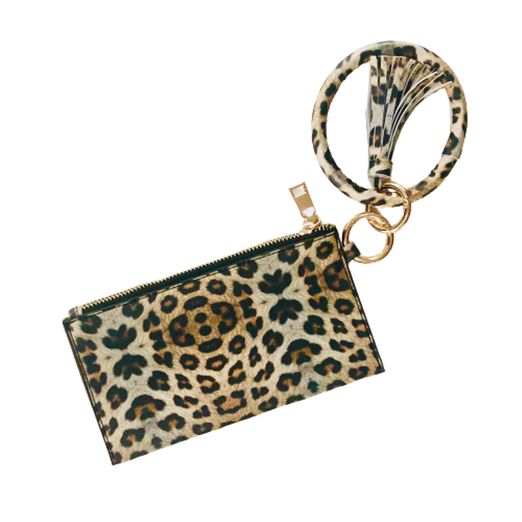 Leopard Keychain Bangle and Clutch