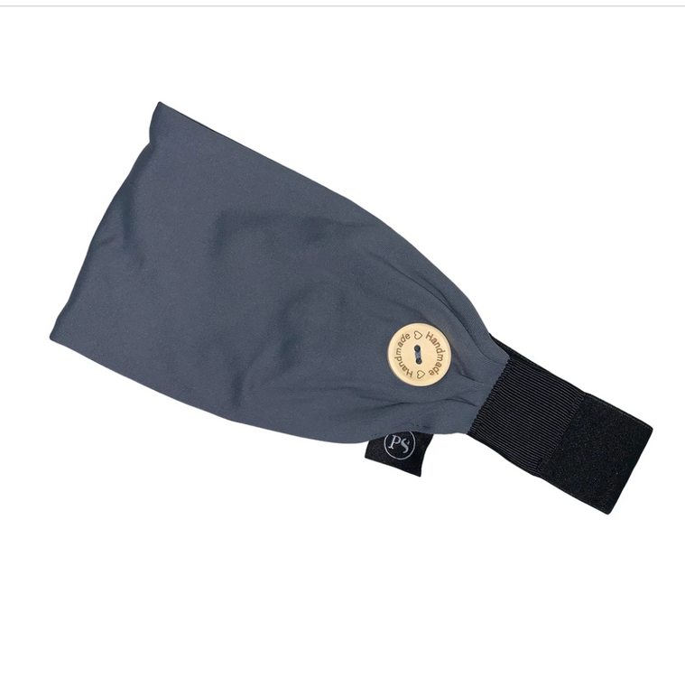 Original Non Slip Headband with Buttons / GRAY / Holds Face Mask in Place