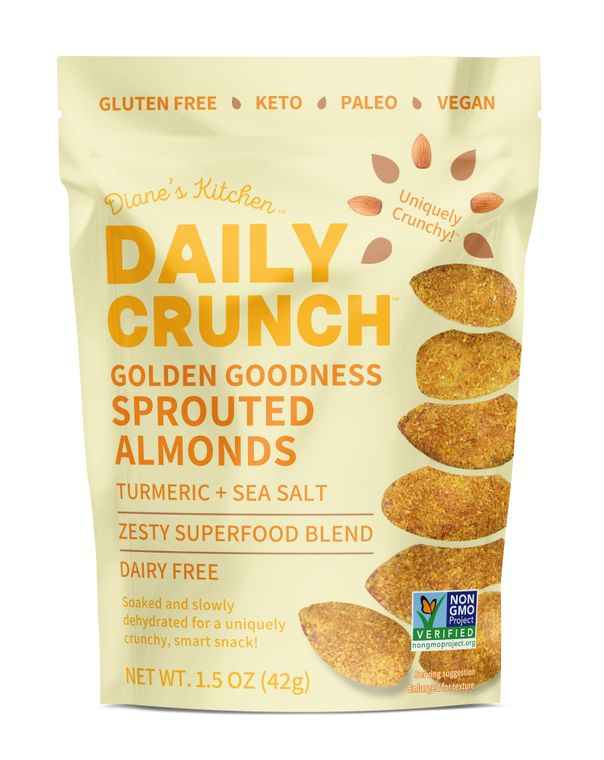 Golden Goodness Sprouted Almonds - 5 ounce bags