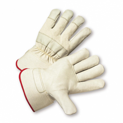 Premium Grain Cowhide Palm Rubberized Cuff Gloves