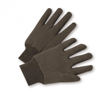 Standard Poly/Cotton Brown Jersey Gloves