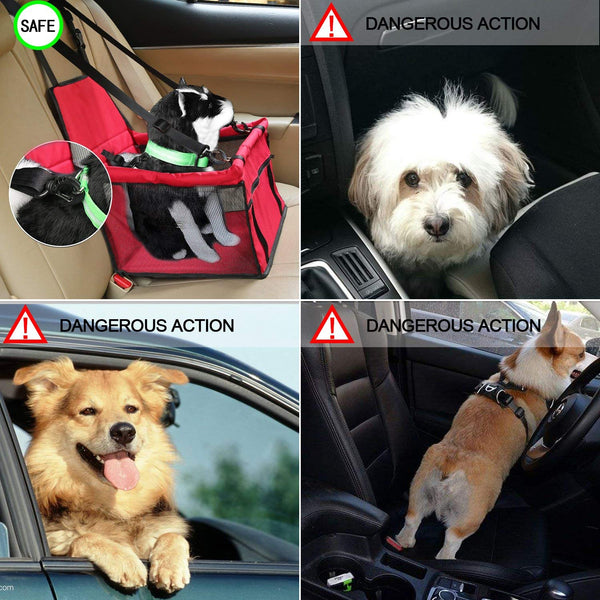 Our Waterproof Dog Car Seat Is A Comfy Padded Front Or Back For Your Doggy