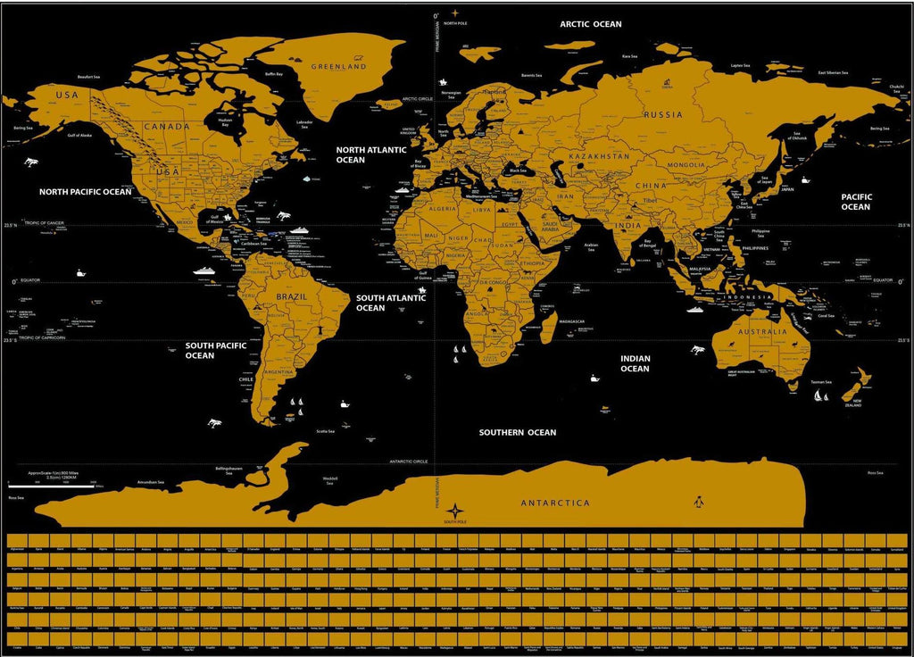 Scratch Off World Map Poster Trendy Holo