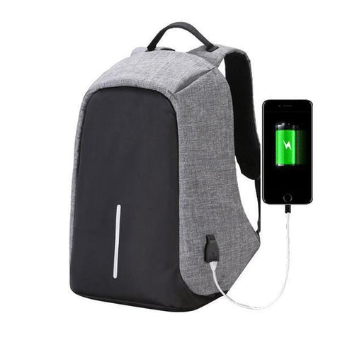 Image of Unisex Backpack Anti Theft With USB Charging Laptop Business and Travel Backpack - trendyholo.com