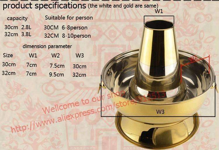 2.8l stainless steel hot pot Beijing traditional charcoal hotpot - trendyholo.com