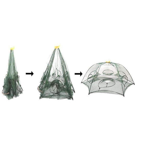 6 Hole Folded Portable  Fishing Shrimp Trap - trendyholo.com