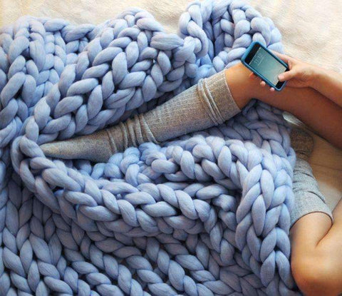 Image of Handmade Chunky Knit Blanket - trendyholo.com