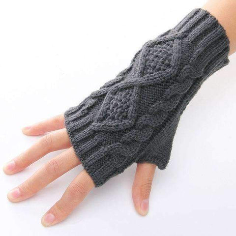 Image of Hand Knit Fingerless Gloves - trendyholo.com
