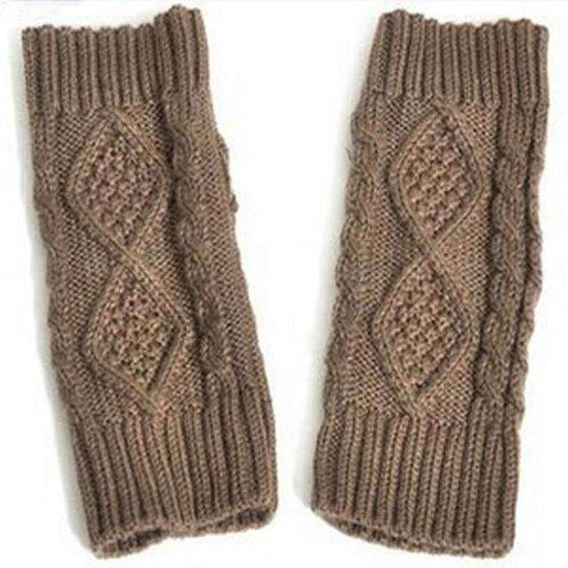 Hand Knit Fingerless Gloves - trendyholo.com