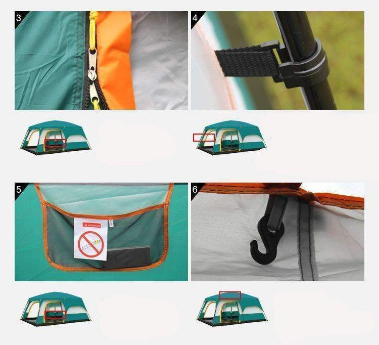 Camel Ultralarge double layer waterproof camping tent - trendyholo.com