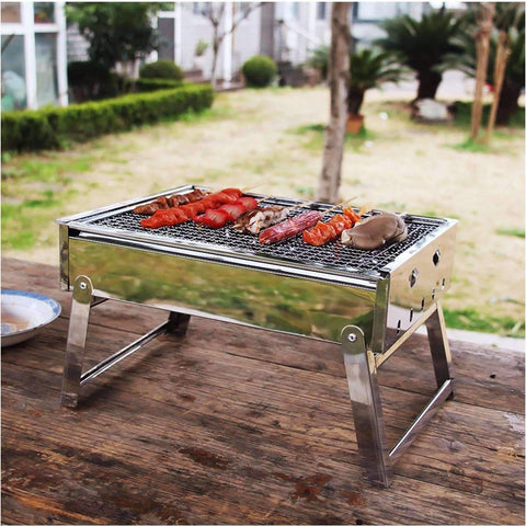 Image of Portable Stainless Steel Charcoal Outdoor Grill - trendyholo.com