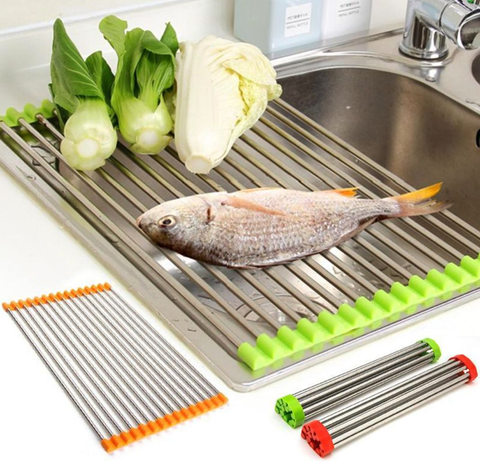Image of Roll Up Silicone Drying Rack - trendyholo.com