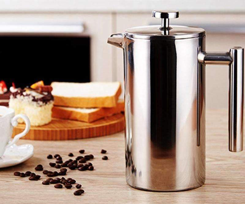 Stainless Steel French Press Coffee Tea Pot with Filter Double Wall - trendyholo.com