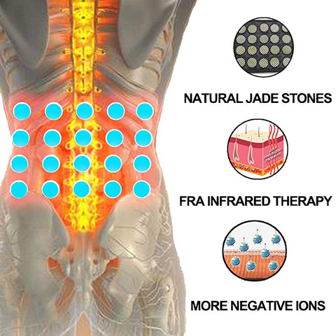 UTK Infrared Jade Heating Waist Wrap for Lower Back Pain