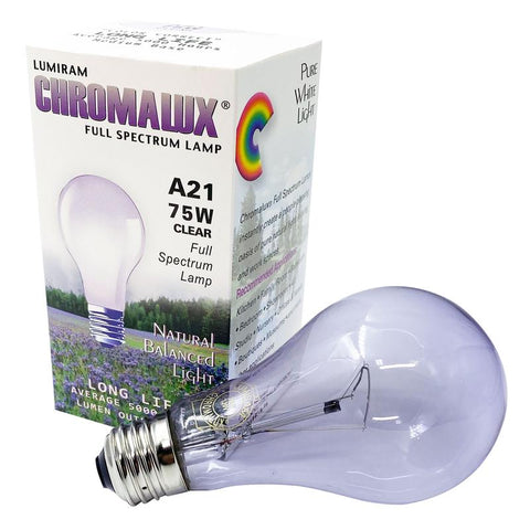 chromalux 75 W Clear Full spectrum bulb