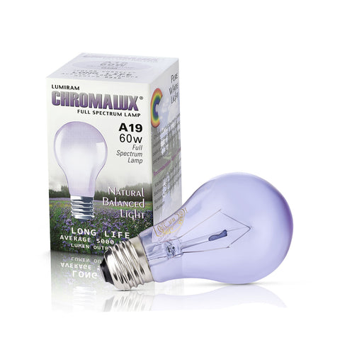 Lumiram A19 60W Full Spectrum Bulbs
