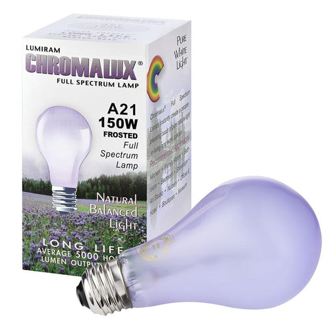Chromalux by Lumiram A21/150W Clear/Frosted Full Spectrum Bulbs