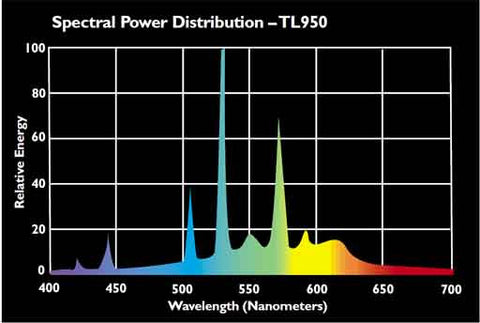 Philips F32T8 TL950 Full Spectrum Fluorescent