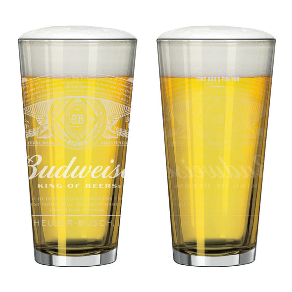 Budweiser Dream White Label Glass Set