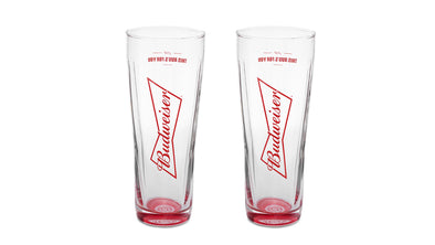 Budweiser 16 oz. Glassware Set