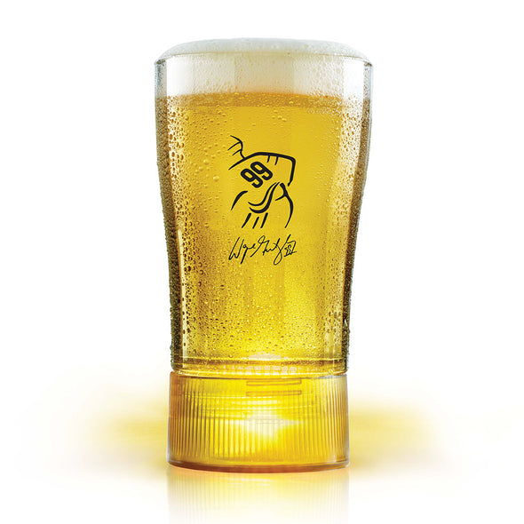 Budweiser Limited Edition Wayne Gretzky Gold-Synced Glass