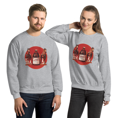 Sweat-shirt Chevaux Clydesdales Budweiser Unisexe