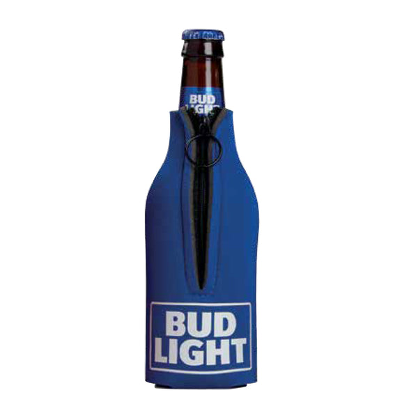 Bud Light Zippered Bottle Coozie