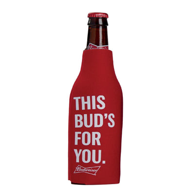 Budweiser Zippered Bottle Coozie