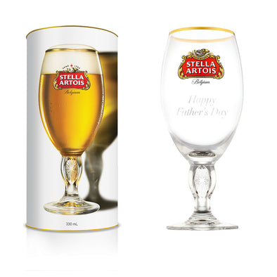 "Stella Artois ""Happy Father's Day"" Engraved Chalice"