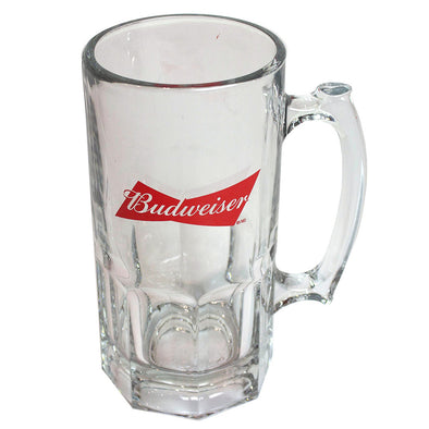 Budweiser 32oz Glass Stein