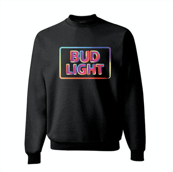 Bud Light Neon-Inspired Sweatshirt
