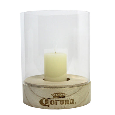 Corona Candle Wood Base