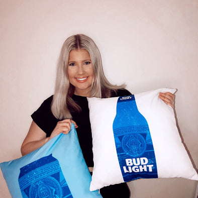Set of Bud Light Cozy Pillows (2)