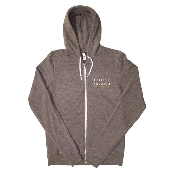 Goose Island Brown Zippered Hoodie