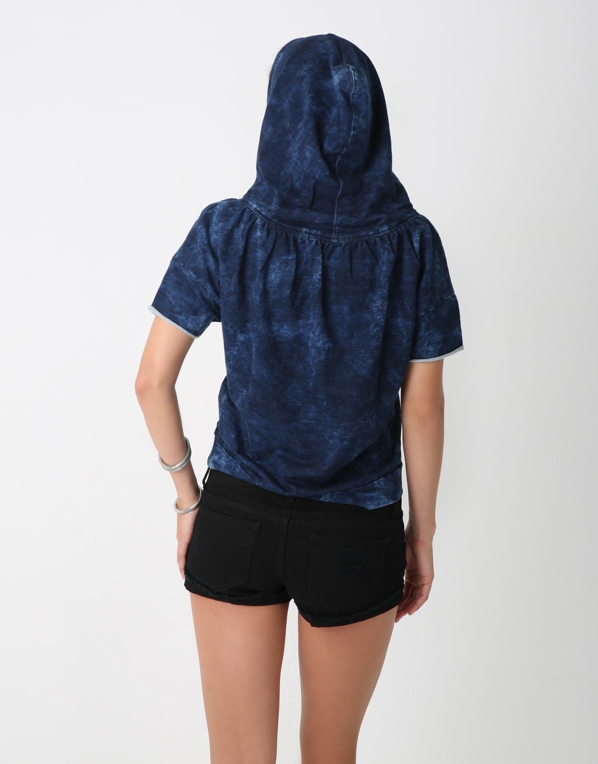 Gathered Neck Hoodie