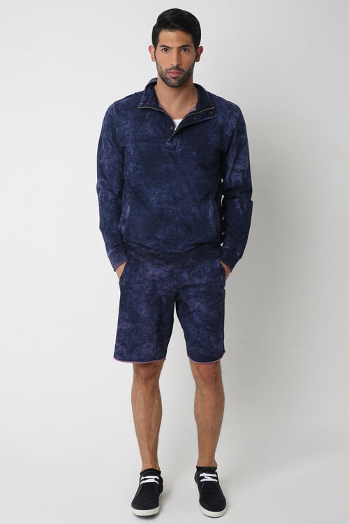 Indigo Polo Sweatshirt