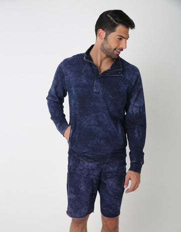 Randum Indigo Polo Sweatshirt for Men