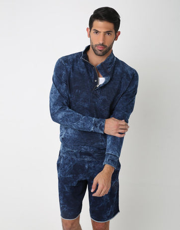 Kar Indigo Polo Sweatshirt for Men