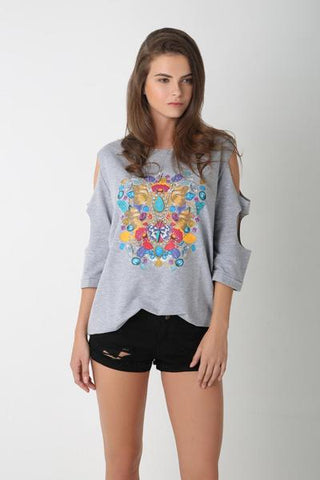 Flowery Print Top for Women