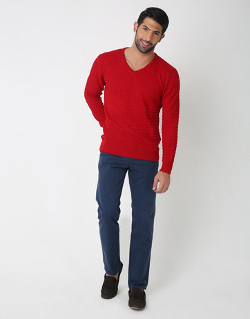 Classic V-Neck Pullover for Men