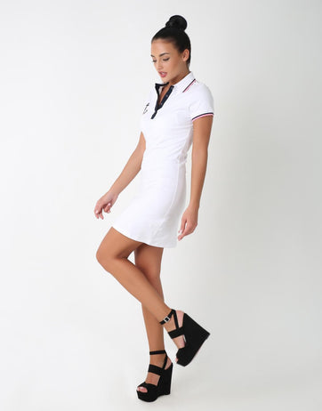 Dual Color Polo Slide Slim Fit Dress