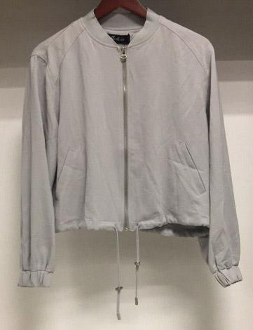 Cotton Baseball Jacket Woven (Beigr)
