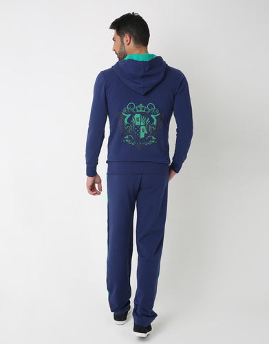 Bi Color Street Suit- Upper, BLUE