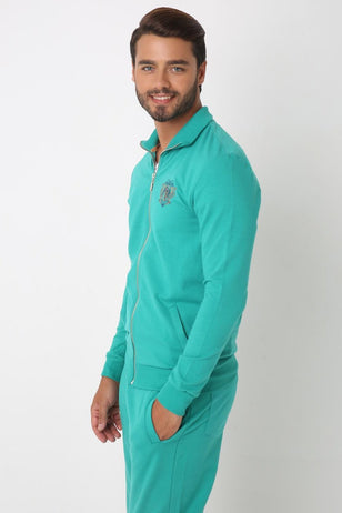 Uni Color Polo Sweatshirt for Men