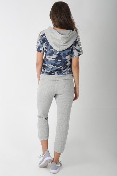 Blue Camo Tracksuit for Women (Grey)