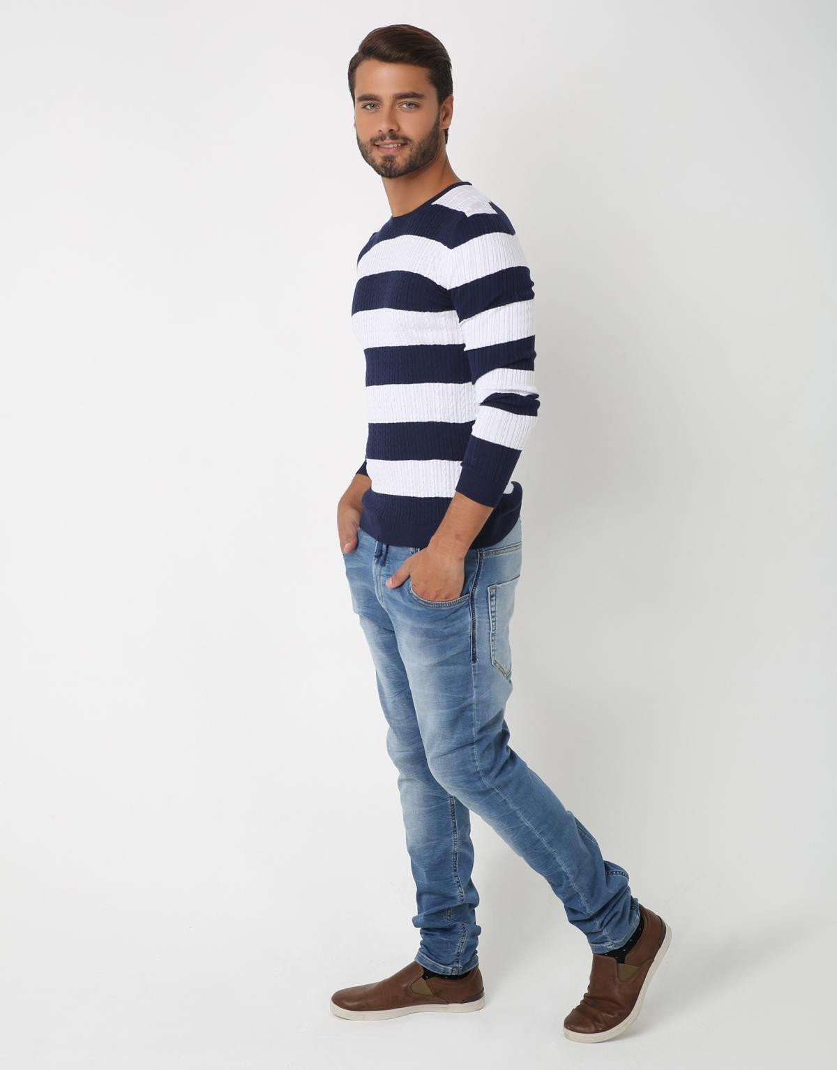Striped Pull Over