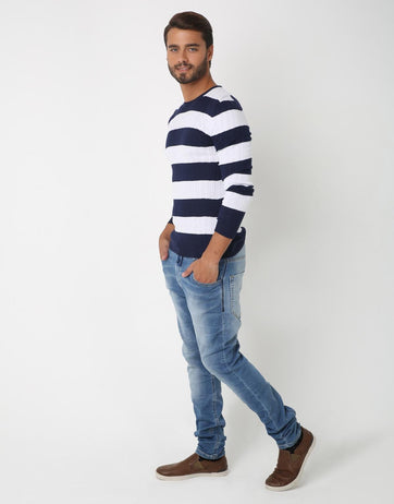 Striped Pullover for Men
